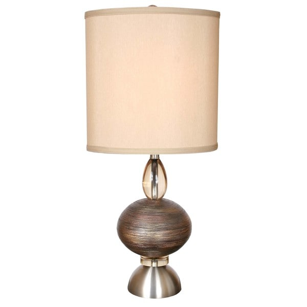 Oneal Brown Metal Table Lamp