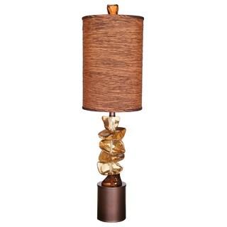 River Rock Brown 100-watt Table Lamp