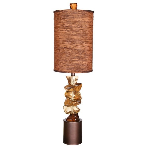 River Rock Brown 100-watt Table Lamp