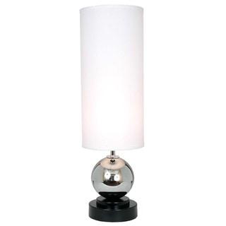 Run Away White/Black/Silver Metal/Fabric Modern Lamp