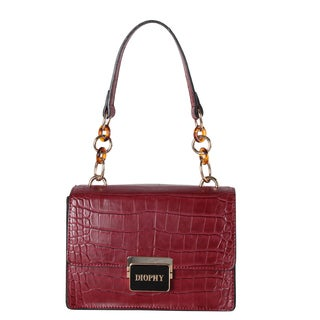 Diophy Faux Leather Animal-print Mini Tote Bag