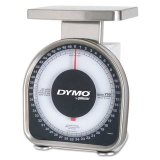 DYMO by Pelouze Heavy-Duty Mechanical Package Scale, 50lb Capacity, 6 x 4-3/4 Platform