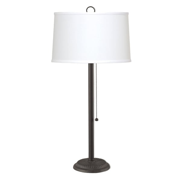 Rustic Pull Chain Iron Table Lamp