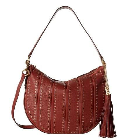 Michael Kors Suede Large Convertible Brick Hobo Handbag