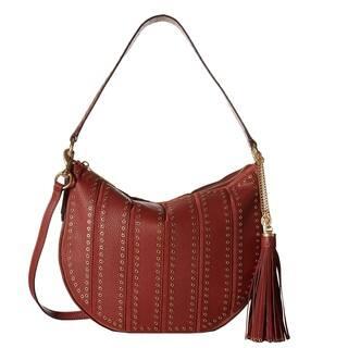 b3cf2ee8f893 Michael Kors Suede Large Convertible Brick Hobo Handbag