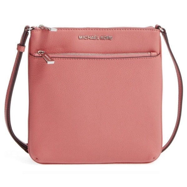 c5e946cc0939 Shop Michael Kors Riley Small Flat Antique Rose Crossbody Handbag - Free  Shipping Today - Overstock - 13750165