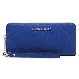 Michael Kors Jet Set Travel Electric Blue Leather Continental Wallet