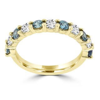 La Vita Vital 14k Yellow Gold 1/4ct TGW Alexandrite and 1/3ct TDW Diamond Ring (G-H, SI1-SI2)