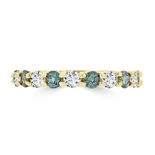 La Vita Vital 14k Yellow Gold 1/4ct TGW Alexandrite and 1/3ct TDW Diamond Ring (G-H, SI1-SI2)