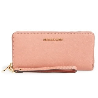 Michael Kors Jet Set Travel Antique Rose Continental Wallet