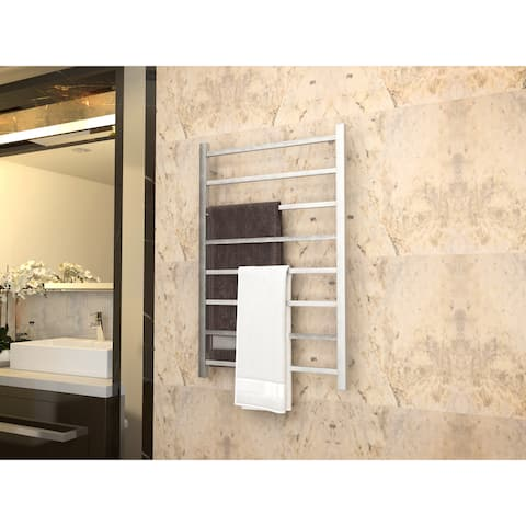 ANZZI Bell 8-Bar Electric Towel Warmer in Brushed Nickel