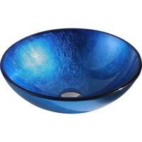 ANZZI Clavier Series Lustrous Blue Vessel Sink