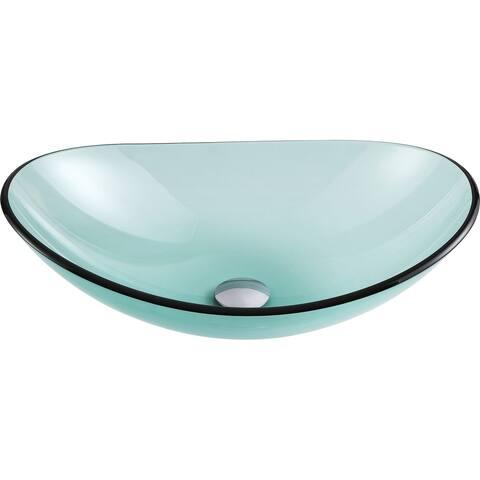 ANZZI Major Series Lustrous Green Deco-Glass Vessel Sink