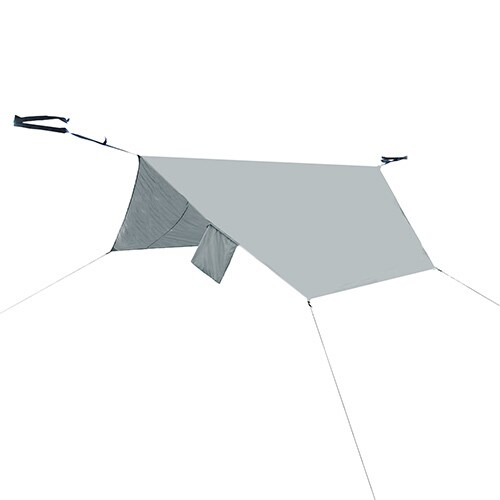 PahaQue Grey Polyester Double Rainfly Hammock