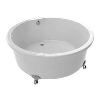 Charming Anzzi Cantor Series 4.9 Foot Acrylic Clawfoot Soaking Bathtub In White