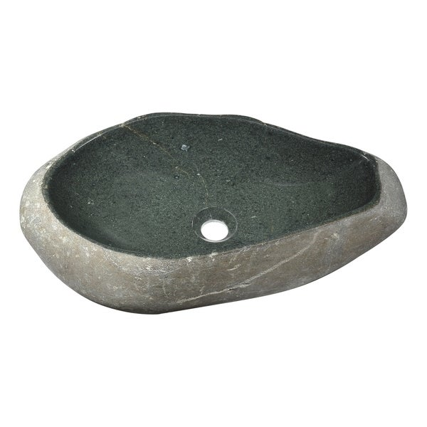 Anzzi Unkindled Basin Vessel Sink in Dark River Stone
