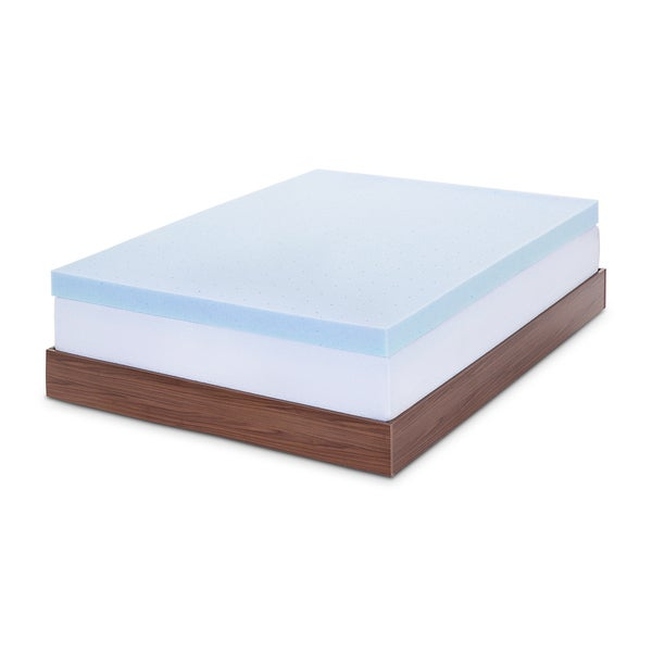 LUCID 4 Inch Gel Memory Foam Mattress Topper Free