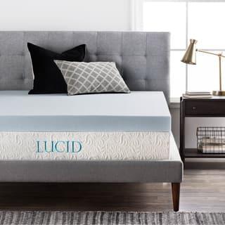 LUCID 4-Inch Gel Memory Foam Mattress Topper|https://ak1.ostkcdn.com/images/products/13750445/P20406813.jpg?impolicy=medium