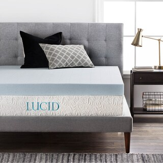 LUCID 4-Inch Gel Memory Foam Mattress Topper