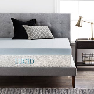 OSleep Lucid 4-inch Gel Memory Foam Mattress Topper