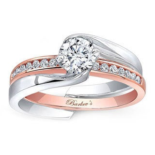 Barkev's Designer 14k Two-tone Gold 3/4ct TDW White Diamond Bridal Ring