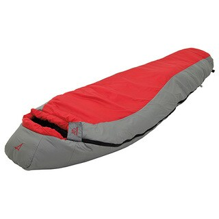 Alps Mountaineering Red Creek Scarlet/Grey +30-degree Sleeping Bag - Regular