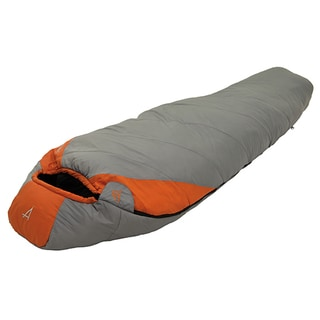 Alps Mountaineering Desert Pine Grey and Rust Polyester 0-degree Regular Sleeping Bag