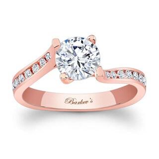 Barkev's Designer 14k Rose Gold 1 1/5ct TDW White Diamond Engagement Ring (F-G, SI1-SI2)