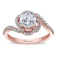 Barkev's Designer 14k Rose Gold 1 2/5ct TDW White Diamond Halo Engagement Ring
