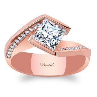 Barkev's Designer 14k Rose Gold 1 1/8ct TDW White Diamond Engagement Ring (F-G, SI1-SI2)