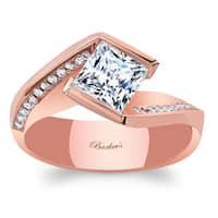 Barkev's Designer 14k Rose Gold 1 1/8ct TDW White Diamond Engagement Ring