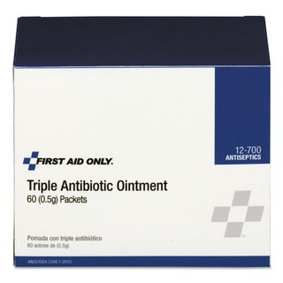 First Aid Only Triple Antibiotic Ointment, 0.5 g Packet, 60/Box
