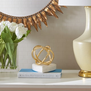 Madison Park Signature Arvin Gold & Marble Sphere