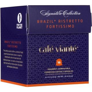 Cafe Viante Brasil Ristretto Fortissimo Caspules For Nespresso