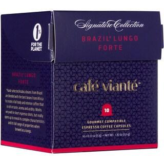 Cafe Viante Brasil Lungo Forte Espresso Coffee Capsules For Nespresso