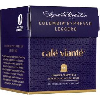 Cafe Viante Colombia Espresso Leggero Coffee Capsules For Nespresso
