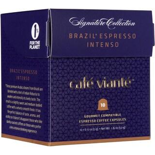 Cafe Viante Brasil Espresso Intenso Coffee Capsules For Nespresso