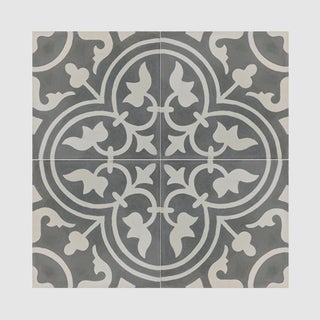 Casa Grey And White Handmade Moroccan 8 X 8 Inch Cement And Granite Floor  Or Wall