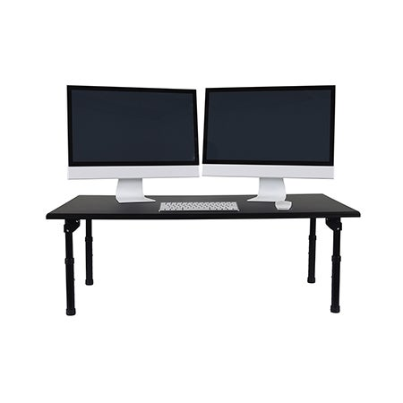 Luxor Black Wood 42 Inch Wide Standing Desktop Desk