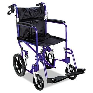 Medline Excel Deluxe Aluminum Transport Wheelchair
