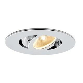 Molto Luce Kado Silver Metal Tiltable LED Recessed Spotlight