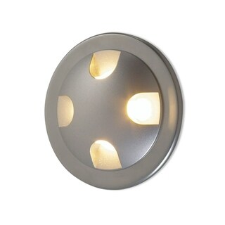 Molto Luce Como Four Matte Chrome Aluminum 20-degree Amber Beam Semi-recessed Spotlight with J-Box/Driver