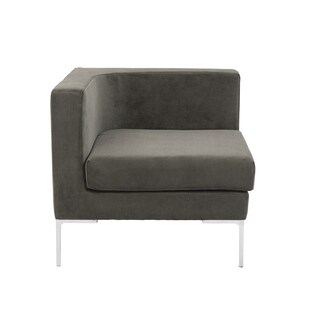 Vittorio Sofa with Arm Rests in Dark Gray
