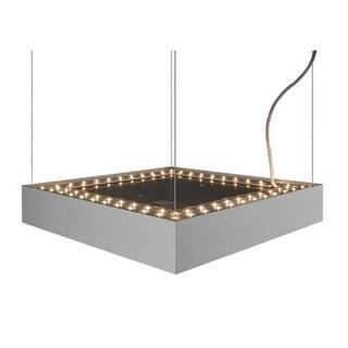 Molto Luce Cadan Matte Chrome/Opal Diffuser Aluminum 36-inch Pendant