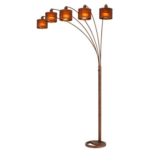 Shop Oxidized Metal Mica Shade 5 Arm Arc Floor Lamp Free