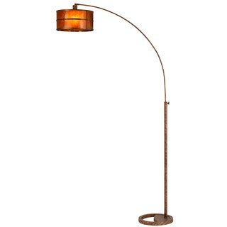 Metal Mica 100-watt Single-arm Heavy Duty Arc Floor Lamp