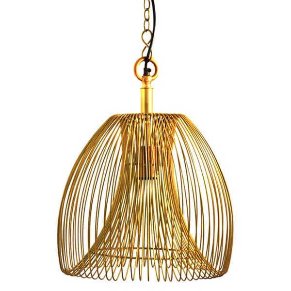 Lawrence Wire Small Hanging Pendant Lamp in Gold - Free Shipping ...