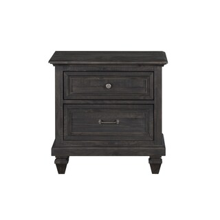 Magnussen Home Furnishings Calistoga Weathered Charcoal Pinewood 2-drawer Nightstand