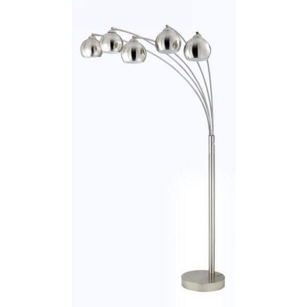 Shop brushed steel shade 5 light 60 watt arc floor lamp free brushed steel shade 5 light 60 watt arc floor lamp aloadofball Choice Image