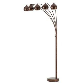 Metal with Metal Shade 5-light 60-watt Arc Floor Lamp